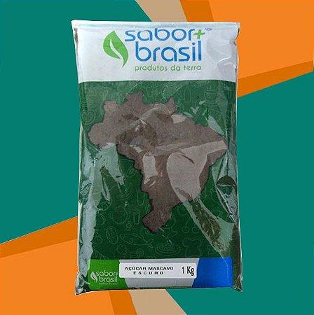 AÇÚCAR MASCAVO ESCURO 1kg - SABOR MAIS BRASIL