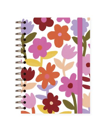 Floral | Caderno Colegial • 90 folhas