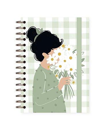Floral Pistache ❋ Lubi   Caderno A5