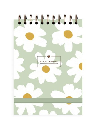 Floral Pistache | Sketchbook ∙ A5