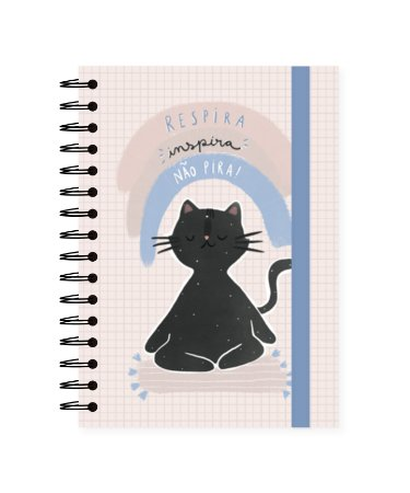 Gato Ioga | Caderno A5