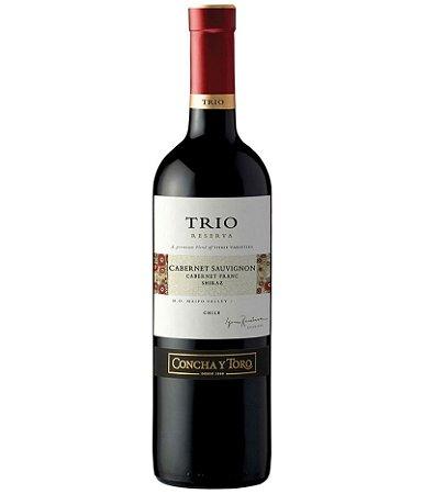 Vinho Concha y Toro Trio Cabernet Sauvignon 750ml