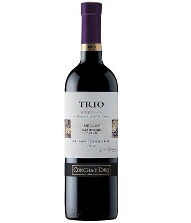 Vinho Concha y Toro Trio Merlot 750ml