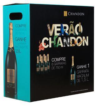 Kit Verão 6 Chandon Brut 750ml + 1 Chandon Magnum 1,5l
