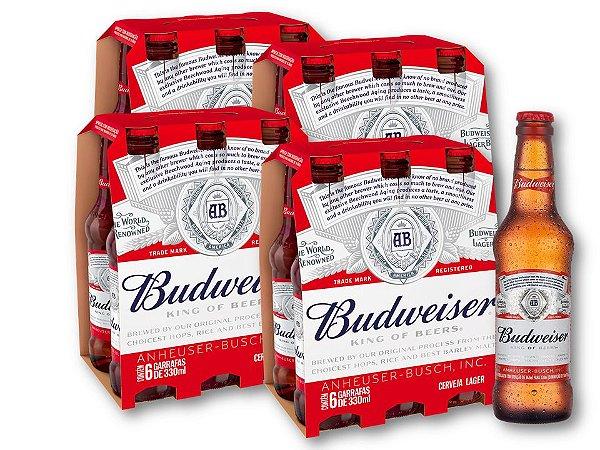 Cerveja Budweiser Long Neck (24 unidades)
