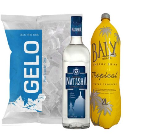Vodka Natasha + Baly 2l + Gelo