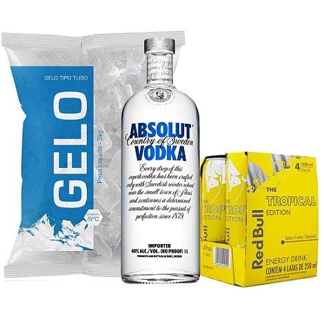 Vodka Absolut + 4 Red Bull + Gelo