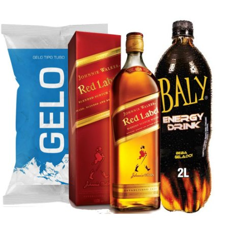 Whisky J. W. Red Label + Baly 2l + Gelo