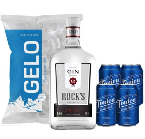 Gin Rocks + 4 Tônica + Gelo