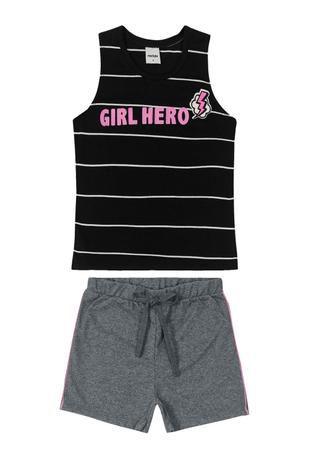 Conjunto Menina Girl Hero - Tam 4 - Rovitex