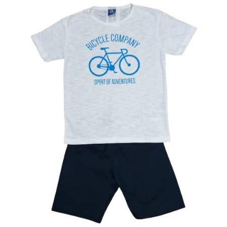 Conjunto Menino Bicycle Company Branco - Tam 6 - Pipa