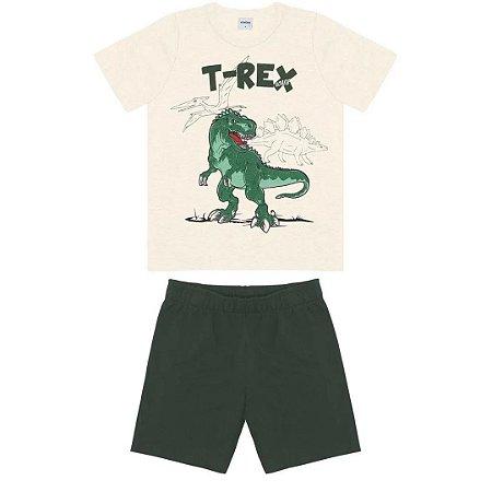 Conjunto Menino T-Rex - Tam 2 - Rovitex