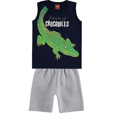 Conjunto Menino Crocodiles - Tam 3 - Kyly