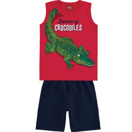 Conjunto Menino Crocodiles - Tam 8 - Kyly