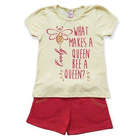 Conjunto Menina Bee Queen - Tam 6 - Candy Class