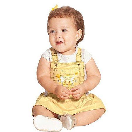 Vestido Bebê Abelinha Amarelo - Tam M - Alakazoo