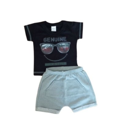 Conjunto Masc Genuine Rock Style Blusa + Short Moletinho  - Tam M - Elian