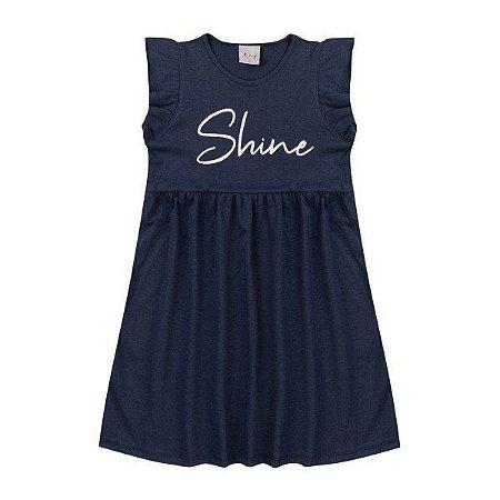 Vestido Menina Shine Marinho - Tam 6 - Kiiwi Kids