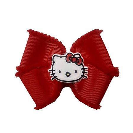 Laço de Cabelo Vermelho Hello Kitty