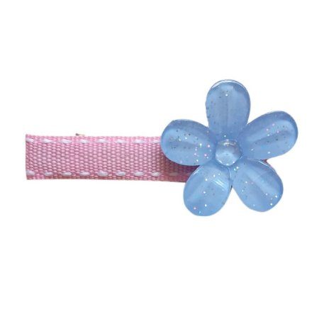 Hair Clip Individual Flor Azul