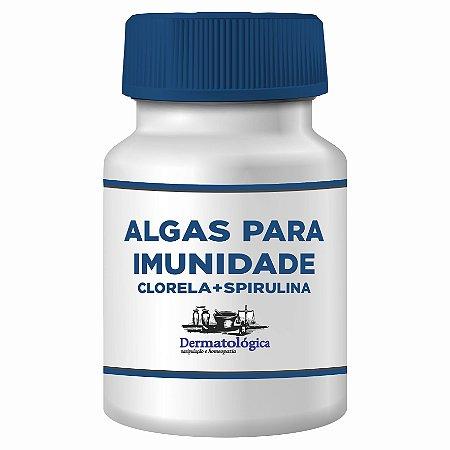 Algas Clorela + Spirulina, Para Fortalecer o Sistema Imunológico - 60 doses
