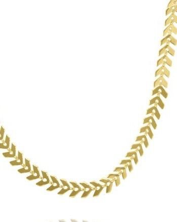Coleira choker com folhas de oliveira folheada em ouro 18k