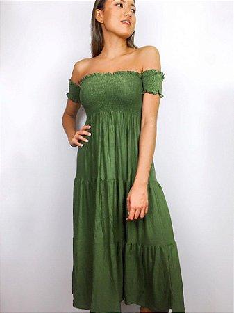 Vestido Joana ciganinha 3 em 1 (Saia longa e sem mangas)