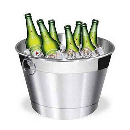 Balde para Gelo e Bebidas em Alumínio 8 litros MTA