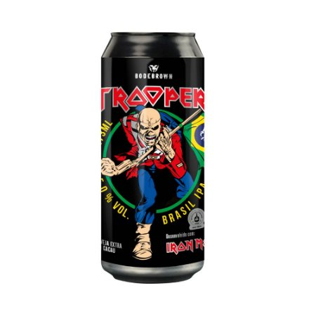 Cerveja Bodebrown Trooper Brasil IPA Lata 473ml