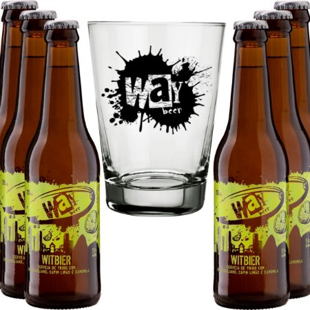 Kit Way Beer 6 Cervejas Witbier 355ml Copo Brinde