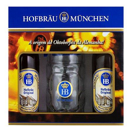 Kit Hofbräu Original 2 Cervejas + 1 Caneca 500ml