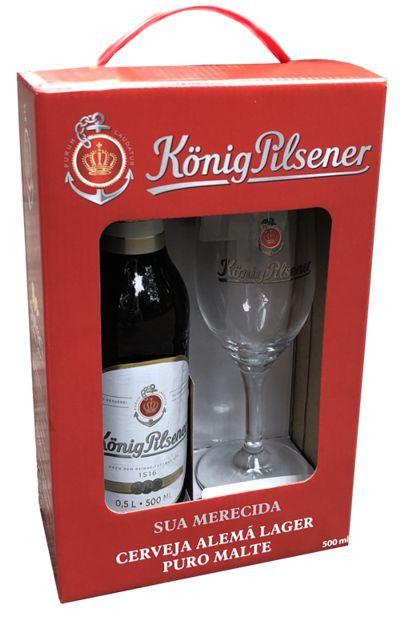 Kit de Cerveja Konig Pilsener Taça e Garrafa 500ml