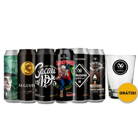 Kit Bodebrown 6 Cervejas Com Copo Grátis