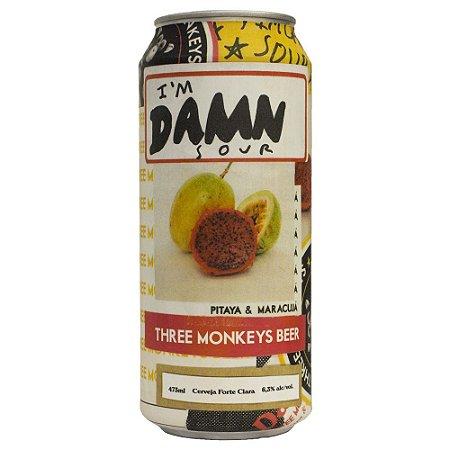 Cerveja THREE MONKEYS IM DAMN SOUR Lata 473ML