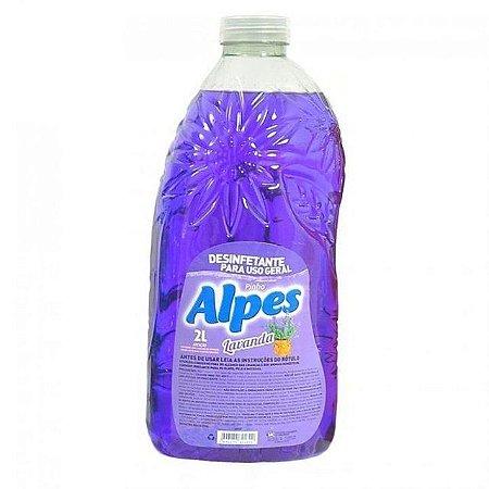 Desinfetante Alpes Pinho 2L, Versão Lavanda