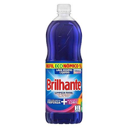 Lava Roupas Líquido Brilhante Limpeza Total 1L