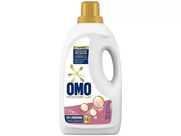 Sabão Líquido Omo Proteção Micelar Sem Perfume 3L