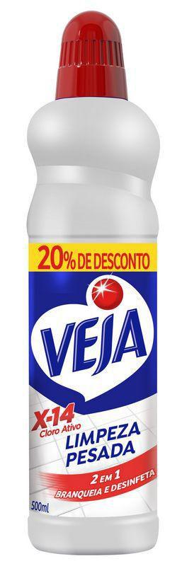 Veja Limpeza Pesada X14 Cloro 500ml com 20% OFF