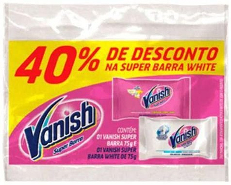 Vanish Super Barra + Super Barra White com 40% Desconto