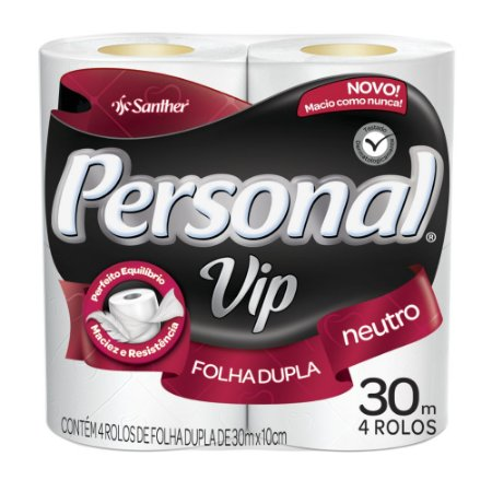 Papel Higiênico Personal Vip 4 rolos