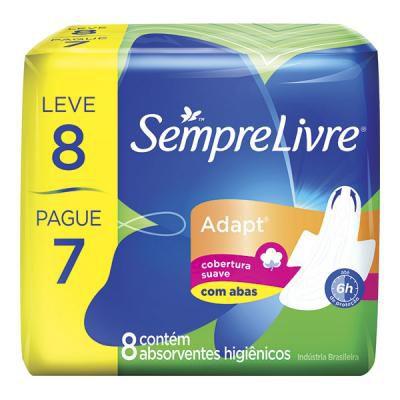 Absorvente Sempre Livre C/Abas 8 und