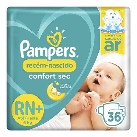 Fraldas Pampeers Confort Sec Tamanho RN - 36 und