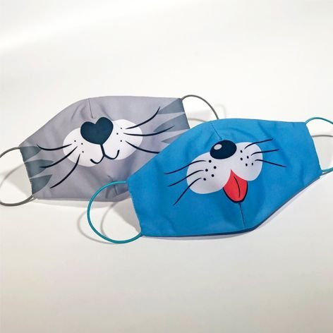 Máscara Infantil PETS - Pack 02 unidades