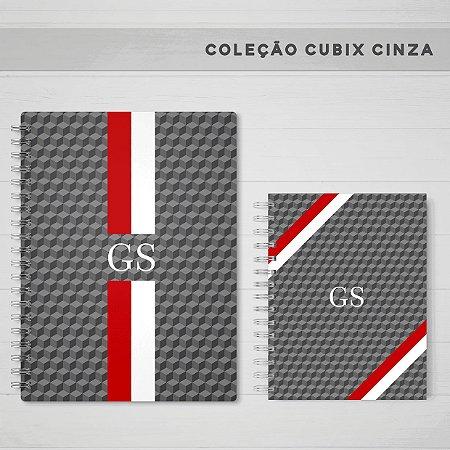 CUBIX CINZA  - CADERNOS E AGENDA
