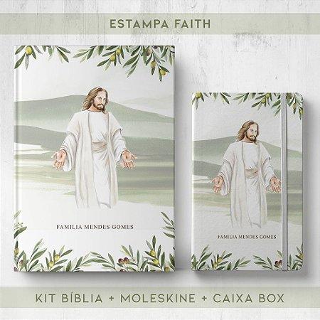 BIBLIA + MOLESKINE + BOX  - FAITH