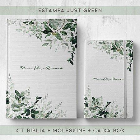 BIBLIA + MOLESKINE + BOX  - JUST GREEN