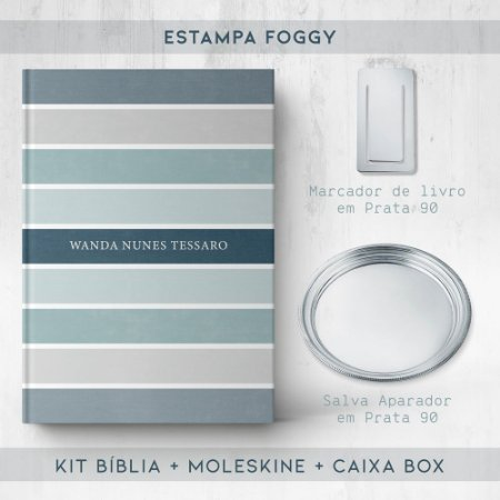 BIBLIA + SALVA + MARCADOR + BOX  - FOGGY
