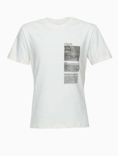 Camiseta mc Reat Textur Geomet Frnt Cost Off White