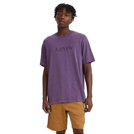 Camiseta Adulto Masculini Levi`s Roxa