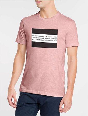 Camiseta mc Slim Institucional Flag Rosa Claro